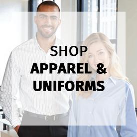 shop apparel and uniforms